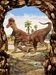 """T-rex Picture - Dinosaur Wall Decoration 17"""" x 13"""""""