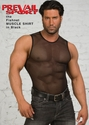Muscle Shirt - Black Fishnet