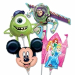 "14"" Disney Character Air-Filled Shape Balloons"