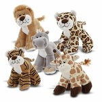 "7"" Zoo Friends Plush Assortment"