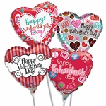 9'' Valentine's Day Air-Filled Balloons