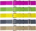 Adjustable Elastic Softball / Baseball Belts - in Bright Colors