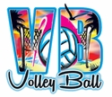 Airbrush Volley Ball Design Long Sleeve White Shirt