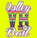 Aztec Volley Ball Design Long Sleeve Neon Yellow Shirt