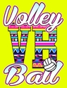 Aztec Volleyball Neon Yellow T-Shirt