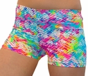 Neon Beach Tracks Spandex Shorts