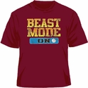 Beast Mode Volleyball Design Cardinal Red T-Shirt