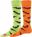 Black Bats Knee-High Socks - in 2 Neon Colors