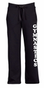 Black Ladies Fleece Sport Pants - Choice of 22 Sports on Leg or Rear