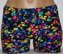 Black & Paint Explosion Spandex Shorts