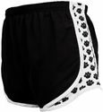 Black & White Pawprint Track Shorts