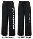 Black & White Swiss Dot Flannel Pants - Choice of 16 Sport Imprints - Leg or Rear