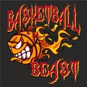 Blazing Basketball Beast Design Long Sleeve Shirt - in 18 Shirt Colors