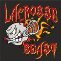 Blazing Lacrosse Beast Design T-Shirt - in 27 Shirt Colors