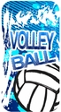 Blue Volleyball Splash iPhone 6 Phone Case