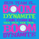 Boom Dynamite Volleyball Design Bright Blue T-Shirt