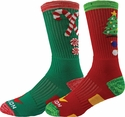 Candy Cane & Lighted Tree Holiday Crew Performance Socks
