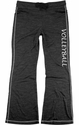 Charcoal Grey Ladies French Terry Pants with Volleyball Print on Leg