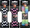 Checker Board Shoe Laces in 3 Colors