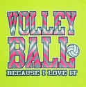 Pink Chevron Volleyball Design Neon Yellow T-Shirt