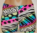 Colorful Wild Thing Spandex Shorts