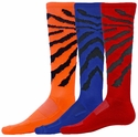 Colorful Wildcat Black Stripe Knee-High Zany Socks - in 11 Colors
