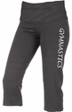 Dark Heather Grey Yoga Capris - Choice of 16 Sports on Leg or Waist