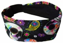 Day of the Dead Skulls Spandex Fabric Headband