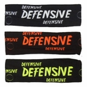 Defensive Black Spandex Headband w/ Neon Lettering - in 6 Colors