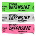Defensive Neon Spandex Headband w/ Black Lettering - in 5 Colors