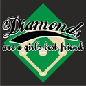 Diamonds Are a Girl's Best Friend Design T-Shirt - in 27 Shirt Colors