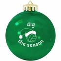Dig the Season Volleyball Tree Ornament - in 3 Colors