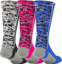 Digital Camo Performance Crew Socks - in 7 Colors