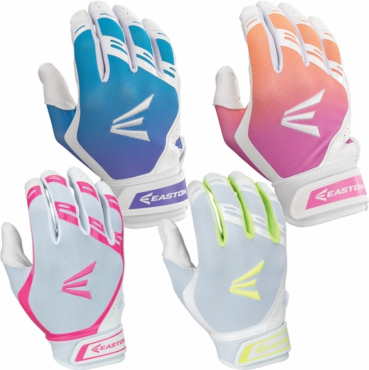 Easton HF7 Hyperskin Fastpitch Softball Batting Gloves - in 4 Colors
