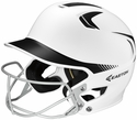 Easton's Z5 White & Black Fastpitch Batting Helmet with Mask