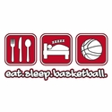 Eat Sleep Basketball Design Hooded Sweatshirt - in 20 Hoodie Colors