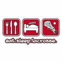 Eat Sleep Lacrosse Design Hooded Sweatshirt - in 20 Hoodie Colors