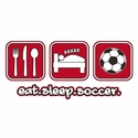Eat Sleep Soccer Design T-Shirt - in 27 Shirt Colors