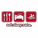 Eat Sleep Swim Design T-Shirt - in 27 Shirt Colors