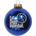 Eat Sleep Volleyball Tree Ornament