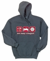 Eat Sleep Volleyball Design Hooded Sweatshirt - in 20 Hoodie Colors