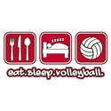 Eat Sleep Volleyball Design T-Shirt - in 27 Shirt Colors