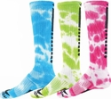 Edge Tie Dye Knee High Socks - in 3 Neon Colors