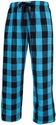 Electric Blue Plaid Flannel Lounge Pants - Choice of 22 Sport Imprints on Leg or Rear
