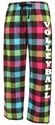 Flannel Lounge Pants - Choice of 22 Sport Imprints on Leg - in 30 Plaid COLORS