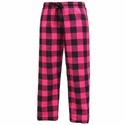 Fuchsia & Black Flannel Tie-Cord Pants - Choice of 22 Sport Imprints on Leg or Rear