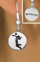 Girl Serving / Volleyball Player Silver Fishhook Earrings