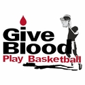 Give Blood Play Basketball Design T-Shirt - in 27 Shirt Colors
