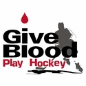 Give Blood Play Hockey Design Long Sleeve Shirt - in 18 Shirt Colors