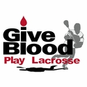 Give Blood Play Lacrosse Design T-Shirt - in 27 Shirt Colors